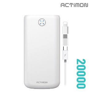 보조배터리 20000mAh( 5 PIN Cable + C , 8 Gender )MON-P-K20000